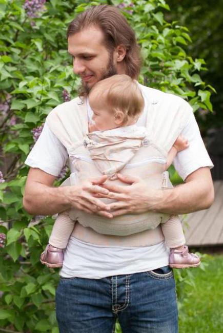 Эрго рюкзак шарфовый с бамбуком Karaush растущий, Peach