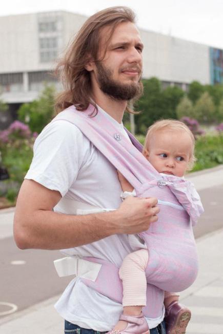 Эрго рюкзак шарфовый с бамбуком Карауш растущий, Pink