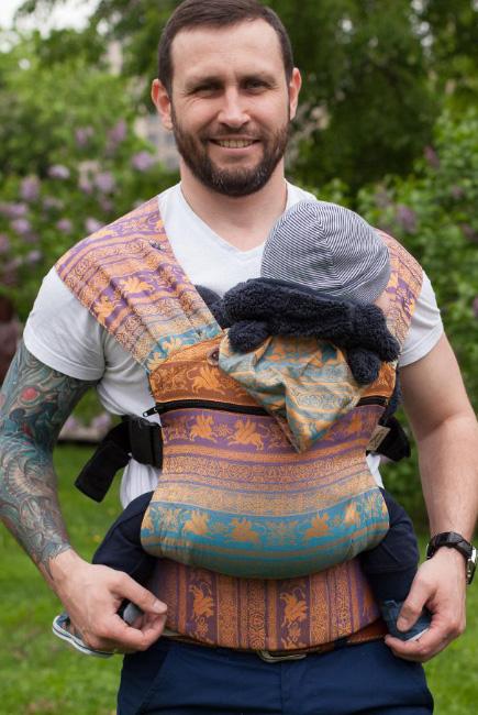 Эрго-рюкзак Karaush шарфовый с бамбуком растущий, Rainbow Opal