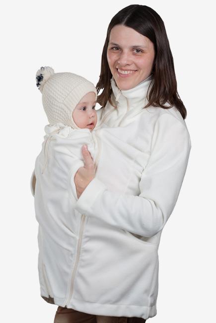 Флисовая слингокуртка и куртка для беременных, молочный