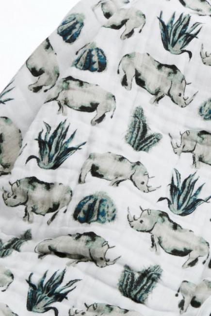 Муслиновая пеленка для новорожденных с бамбуком Diva большая, Rhino