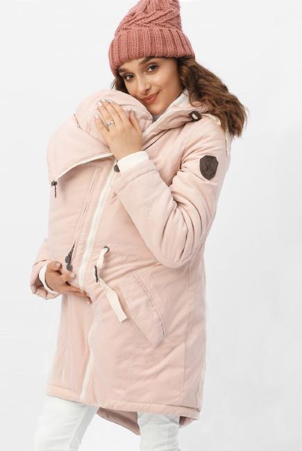 Зимняя слингокуртка - парка 3 в 1, розовый