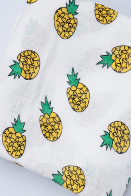 Муслиновая пеленка для новорожденных с бамбуком Diva большая, Pineapple