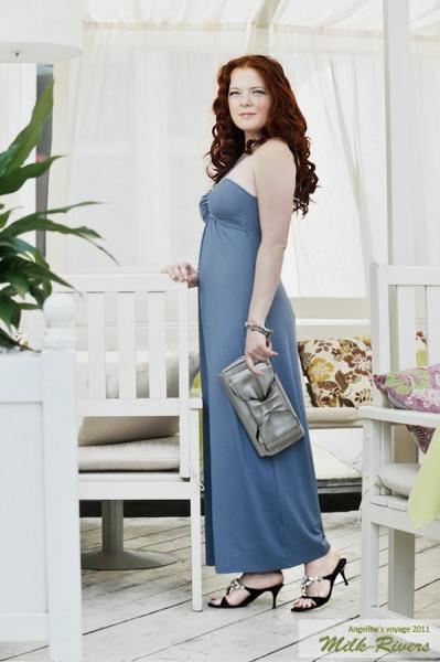 """Платье для кормления Milk Rivers """"Angelina's Voyage"""", дымчатый сапфир"""