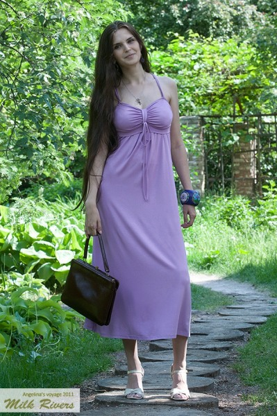 """Платье для кормления Milk Rivers """"Angelina's Voyage"""", лиловый жемчуг"""
