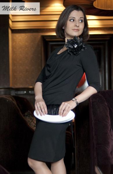 Платье для кормящих и беременных Milk Rivers, черное