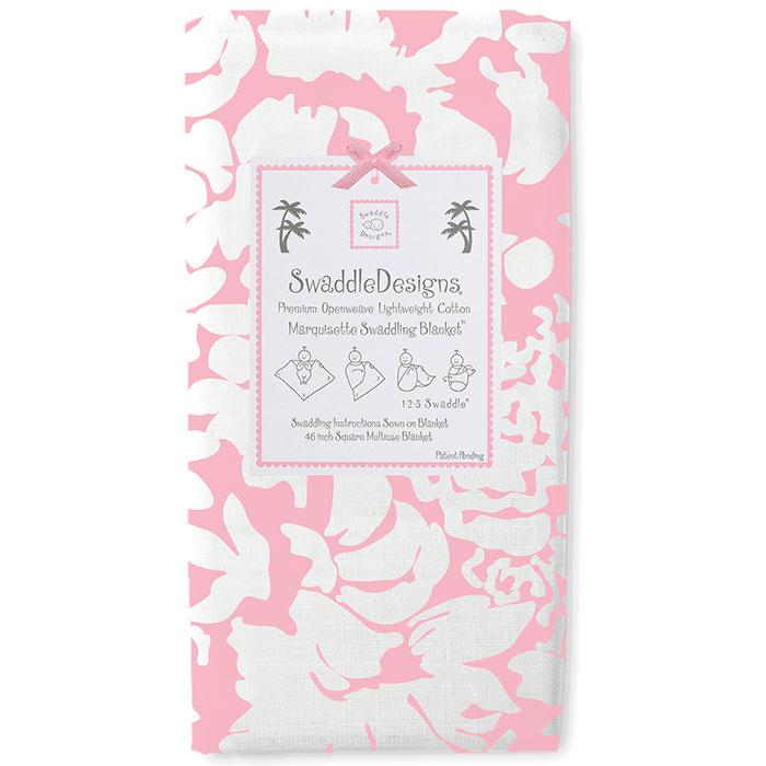 Пеленка детская тонкая SwaddleDesigns Маркизет Pink Lus