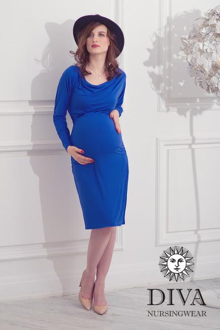 Платье для кормящих и беременных Diva Nursingwear Paola, цвет Azzurro
