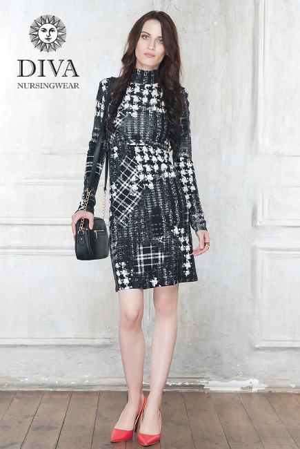 Платье для кормящих Diva Nursingwear Simone, принт Spazio