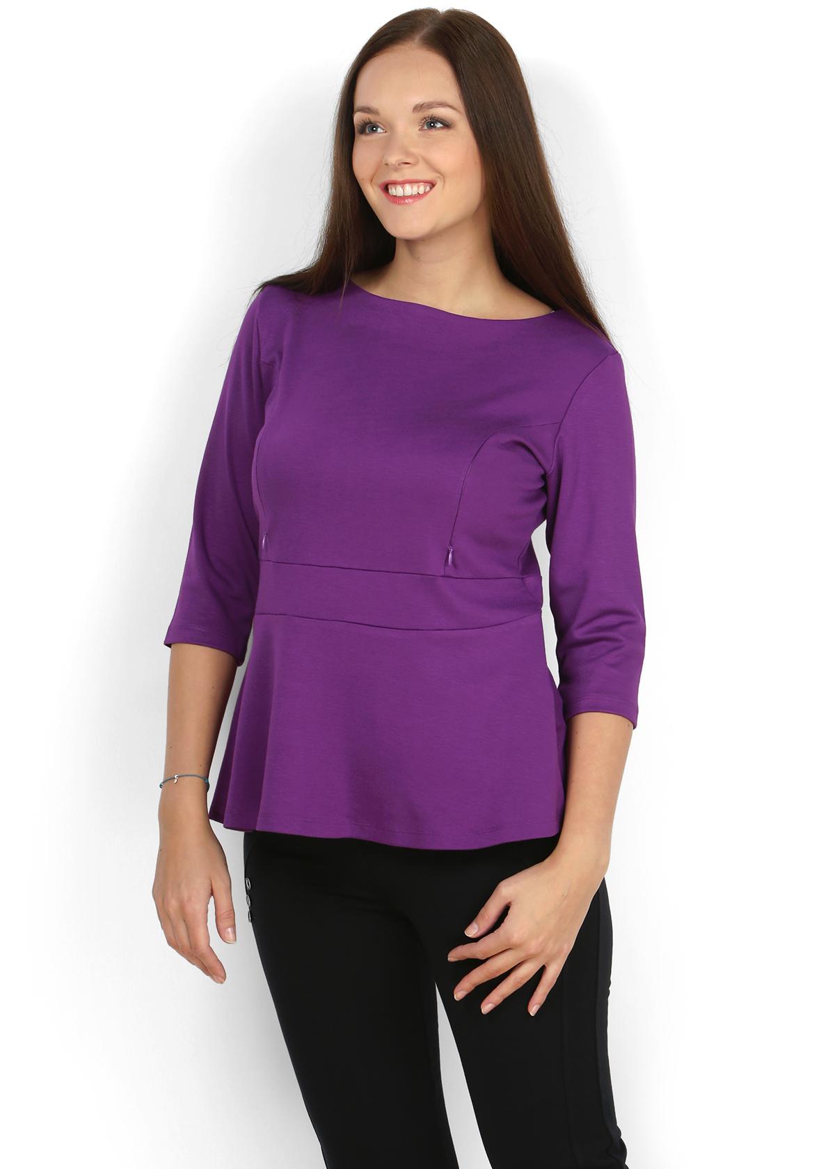"""Блуза """"Стэфи"""" фиолет для кормящих"""