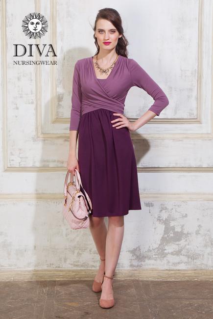 Платье для кормящих и беременных Diva Nursingwear Ornella, Lavanda