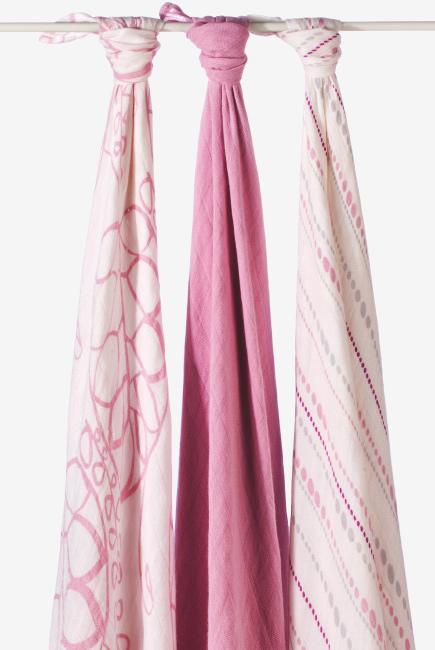 Бамбуковые пеленки для новорожденных Aden&Anais большие, набор 3, Tranquility