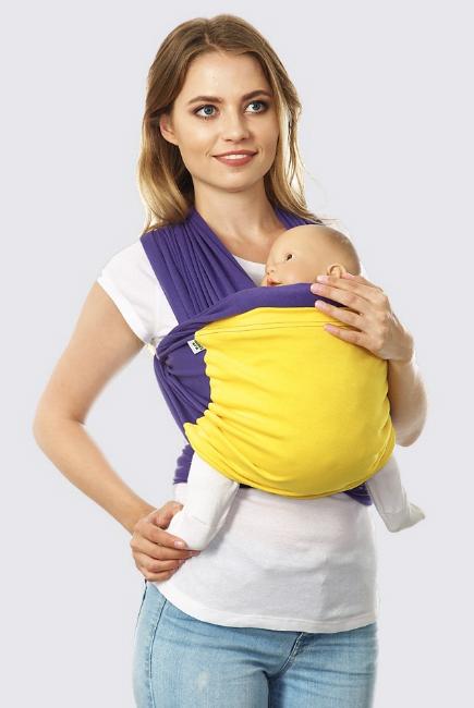 Слинг-шарф трикотажный Fusion, сине-желтый