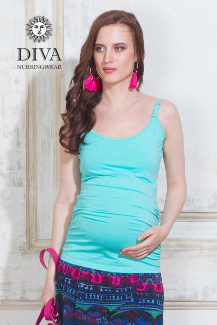 Майка для кормящих и беременных Diva Natale, цвет Menta