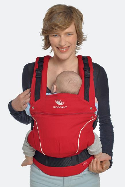 Эрго-рюкзак Manduca PureCotton, Chili Red (красный)