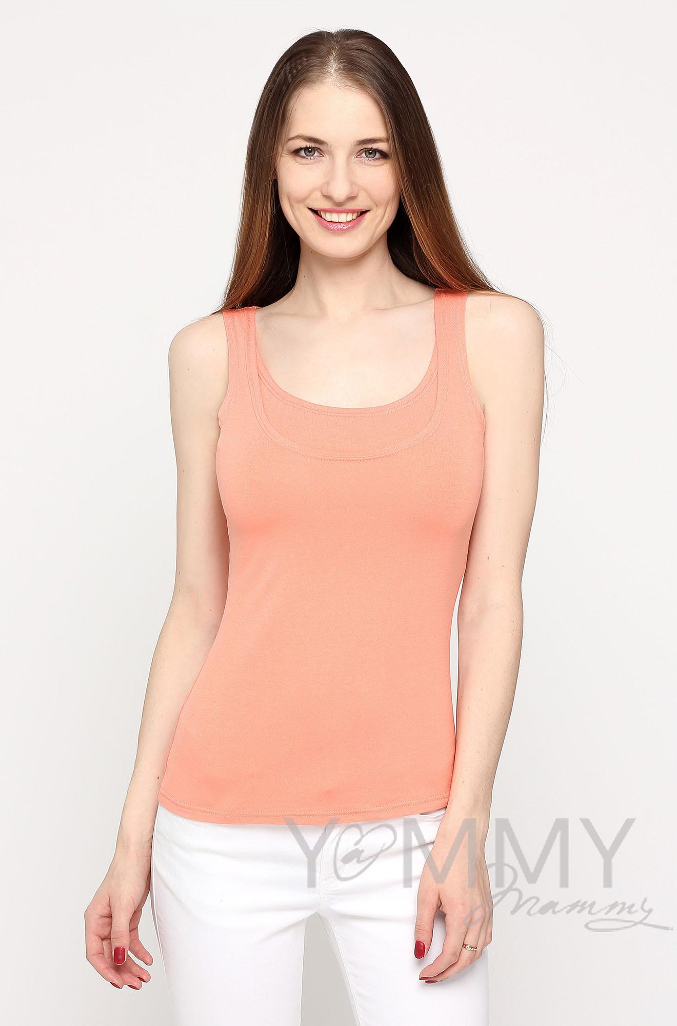 Майка для кормящих и беременных, цвет персиковый