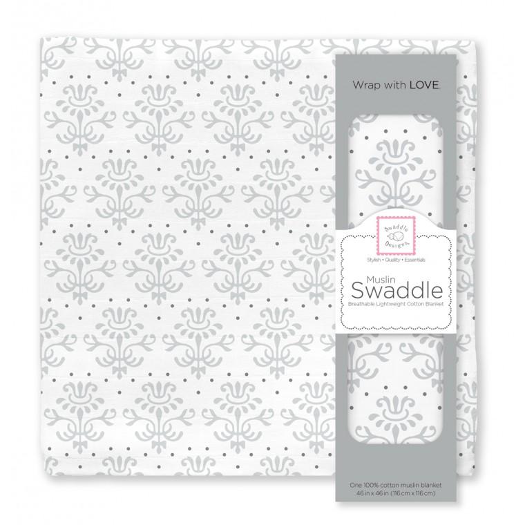Муслиновая пеленка для новорожденных Swaddle Designs большая, Sterling Lillie