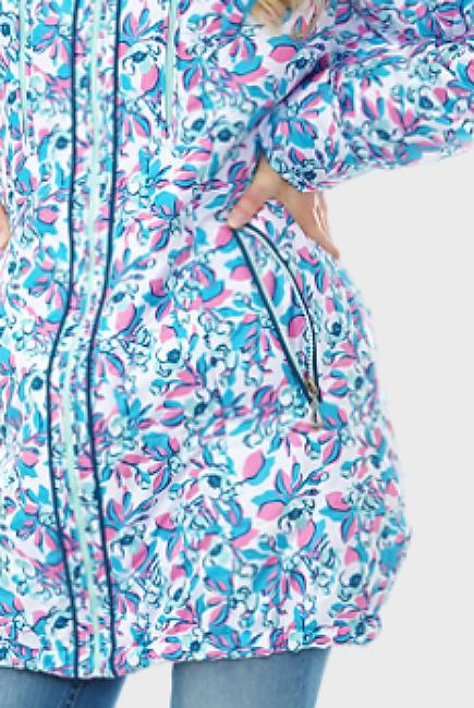 Слингокуртка демисезонная Chelsea 3в1, розово-голубые цветы
