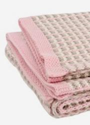 "Jollein вязаный плед для новорожденных, цвет ""pink/sand/off-white"""