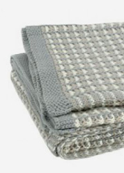 "Jollein вязаный плед для новорожденных, цвет ""grey/sand/off-white"""