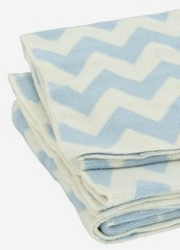 "Jollein вязаный плед для новорожденных, цвет ""blue/of-white"""
