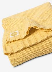 """Jollein вязаный плед для новорожденных (косичка), цвет """"желтый"""""""