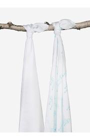 Комплект бамбуковых пеленок для новорожденных 2 шт. Jollein, Balloons lagoon