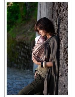 Слинг-шарф Ellevill Zara Tricolor Sandstorm со льном