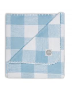 """плед для новорожденных, цвет """"Check blue"""""""