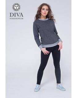 Толстовка для беременных и кормящих из капитония Diva Amelia, Grafite
