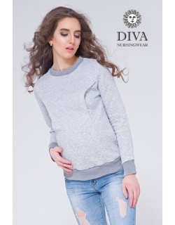 Толстовка для кормящих и беременных из капитония Diva Amelia, Nebbia