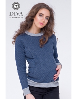 Толстовка для кормящих и беременных из капитония Diva Amelia, Notte