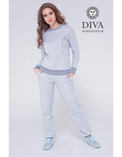 Костюм для кормящих и беременных из капитония Diva Amelia, Nebbia