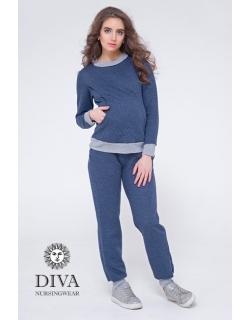 Костюм для кормящих и беременных из капитония Diva Amelia, Notte