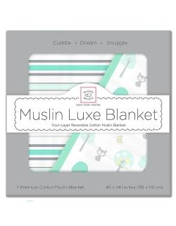 Муслиновое одеяло SwaddleDesigns, цвет Starshine Blue