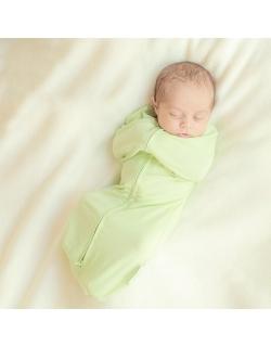 Пеленка кокон для новорожденных на кнопке и молнии, Aqua