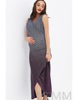 e3eab6438df698c Вечернее платье для беременных и кормящих длинное с градиентом, цвет ...