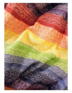 Слинг с кольцами Ellevill Gaia Rainbow со льном