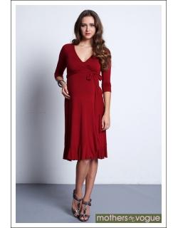 """Платье Mothers en Vogue """"Flamenco Wrap"""", гранатовый"""