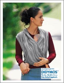Слинг-шарф Didymos, Waves Silver (серебряные волны)
