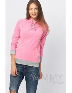 """Толстовка YammyMammy (ями мами) флисовая, цвет """"розовый"""""""