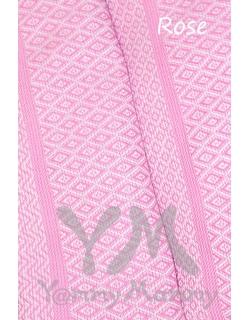 "Слинг-шарф YammyMammy (yummy mummy) тканый, цвет ""розовый/белый"""