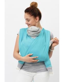 """Слинг-шарф трикотажный, цвет """"бирюзовый"""""""