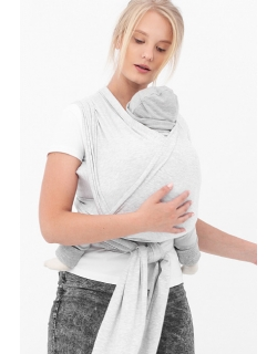 "Слинг-шарф трикотажный, цвет ""серый меланж"""