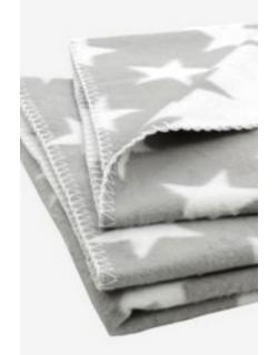 """плед для новорожденных, цвет """"Star grey"""""""