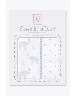 Набор пеленок SwaddleDesigns Swaddle Duo Swaddle Duo PB Elephant/Chickies