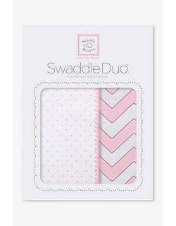 Набор пеленок SwaddleDesigns Swaddle Duo Pink Classic Chevron