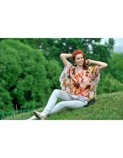 """Блуза для кормления Milk Rivers """"Римские каникулы"""", оранжевая"""