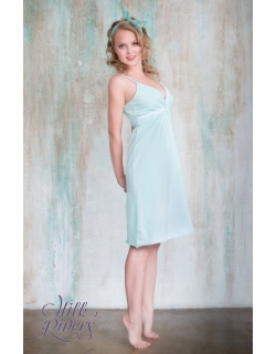 """Ночная сорочка для беременных и кормящих """"Селена"""" Milk Rivers,ментол"""