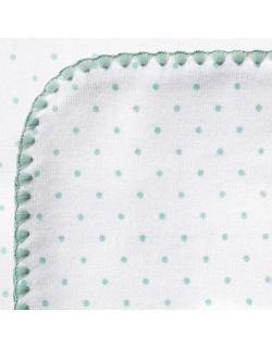 Фланелевая пеленка для новорожденного SwaddleDesigns SeaCrystal Dot